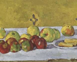 Still life with apples and biscuits — Поль Сезанн