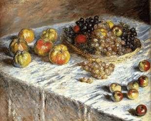 Натюрморт с яблоками и виноградом — Клод Моне