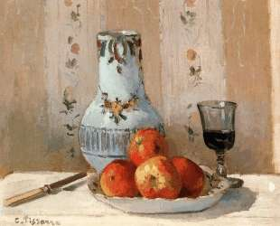 Still Life with Apples and Pitcher — Камиль Писсарро