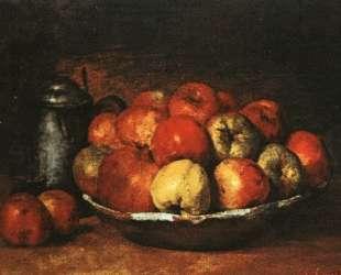 Натюрморт с яблоками и гранатами — Гюстав Курбе