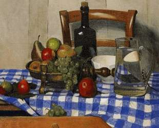 Still Life with Blue Checkered Tablecloth — Феликс Валлотон
