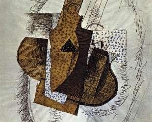 Натюрморт с глиняной бутылкой — Жорж Брак