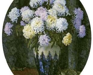 Натюрморт с хризантемами — Николай Богданов-Бельский