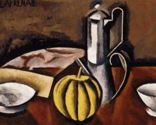 Still Life with Coffee Pot and Melon — Роже де ла Френе