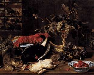 Still Life with Crab, Poultry, and Fruit — Франс Снейдерс