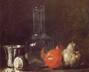 Still Life with Glass Flask and Fruit — Жан Батист Симеон Шарден