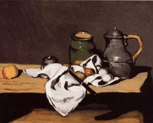 Still Life with Green Pot and Pewter Jug — Поль Сезанн