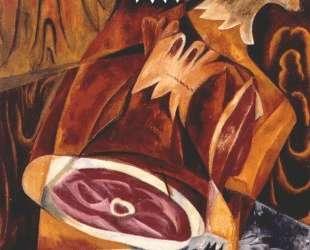 Still life with ham — Наталья Гончарова