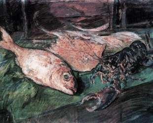 Натюрморт с омаром — Константин Коровин