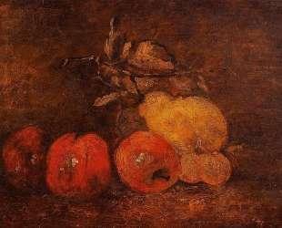 Натюрморт с грушами и яблоками — Гюстав Курбе