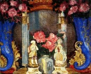 Натюрморт с фарфоровыми фигурками и розами — Сергей Судейкин