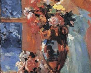 Натюрморт с портретом Перцевой — Константин Коровин