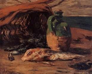 Натюрморт с красной кефалью и кувшином — Поль Гоген