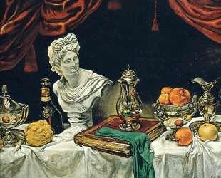 Натюрмотрт с серебряной посудой — Джорджо де Кирико