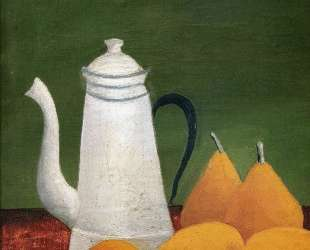 Still life with teapot and fruit — Анри Руссо