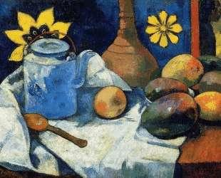 Натюрморт с чайником и фруктами — Поль Гоген