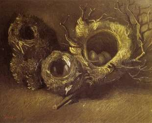 Still Life with Three Birds Nests — Винсент Ван Гог