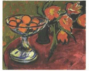 Still Live with Tulips and Oranges — Эрнст Людвиг Кирхнер