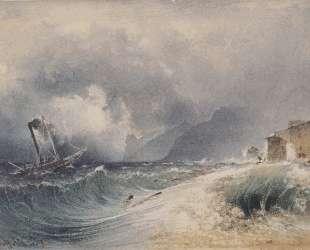 Storm on Lake Garda — Рудольф фон Альт