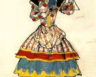 Уличная танцовщица. Эскиз костюма — Александр Бенуа