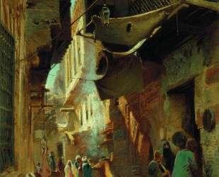 Улица в Каире — Константин Маковский