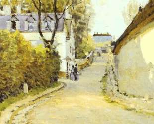 Street in Ville d Avray — Альфред Сислей