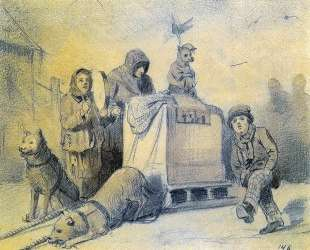 Уличные музыканты в Париже — Василий Перов