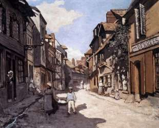 Улица Баволь. Онфлёр — Клод Моне