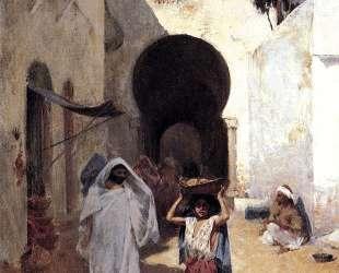 Street Scene Tangiers — Уиллард Меткалф