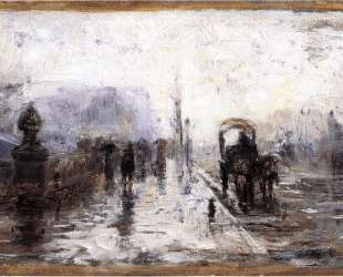 Street Scene with Carriage — Теодор Клемент Стил