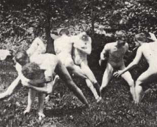 Studens wrestling in the nude — Томас Икинс