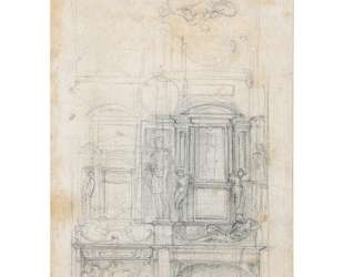 Studies for a double tomb wall — Микеланджело