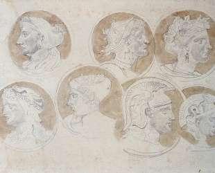 Зарисовки античных медальонов — Эжен Делакруа