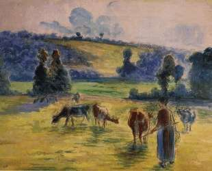 Study for 'Cowherd at Eragny' — Камиль Писсарро