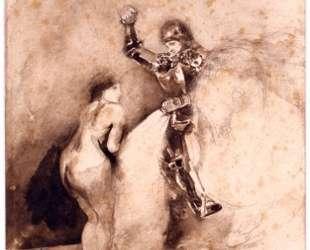 Набросок для картины 'Марфиза' — Эжен Делакруа