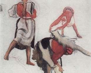 Этюд для картины Беление холста — Зинаида Серебрякова