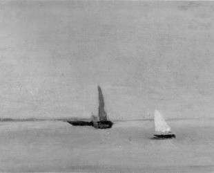 Study for Ships and Sailboats on the Delaware — Томас Икинс