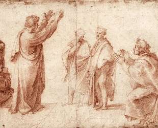 Study for St. Paul Preaching in Athens — Рафаэль Санти