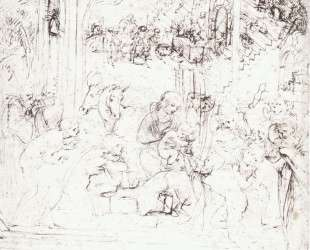 Study for the Adoration of the Magi — Леонардо да Винчи
