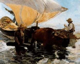 Study for 'The Comeback of the fisheries' — Хоакин Соролья