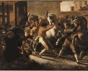 Study for the Race of the Barbarian Horses — Теодор Жерико