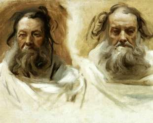 Study for Two Heads for Boston Mural 'The Prophets' — Джон Сингер Сарджент