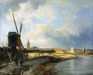 Study for View on Den Haag — Корнелис Спрингер