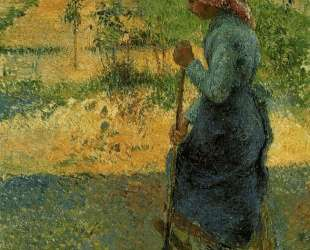 Study of a Peasant in Open Air (also known as Peasant Digging) — Камиль Писсарро