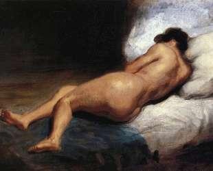 Набросок для картины 'Лежащая обнаженная' — Эжен Делакруа