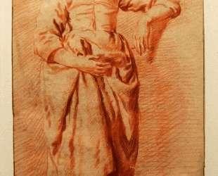 Study of a Woman in Peasant Dress — Адриан ван де Вельде