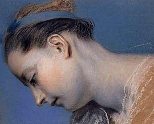 Study of a woman's face — Морис Кантен де Латур