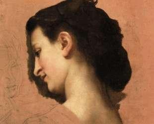 Study of a Young Girl s Head — Вильям Адольф Бугро