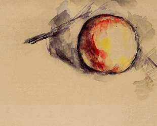 Study of an Apple — Поль Сезанн