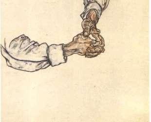 Study of hands — Эгон Шиле